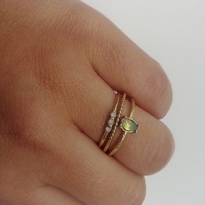 Gently Used Lc Lauren Conrad Gold Colored ring set